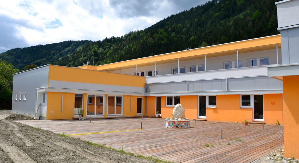 Das Down Syndrom Zentrum in Leoben schafft mit seinen Massivholzbau-Elementen eine Wohlfühlumgebung für Menschen mit besonderen Bedürfnissen