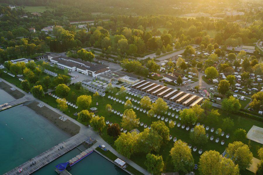 Ehrlich schön: CLT in Sichtholzqualität im Strandbad Klagenfurt