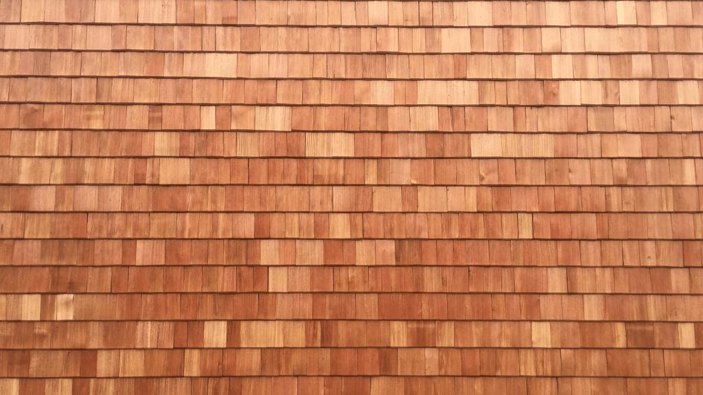 Holzschindeln lassen die Holzschindeln an der Fassade vom Holzhaus im Waldviertel zu einem Hingucker werden