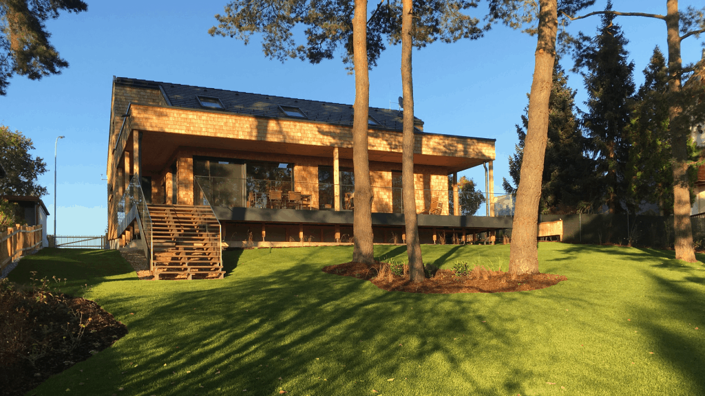 Holzhaus aus CLT Massivholzelemten (Bungalow) im Waldviertel