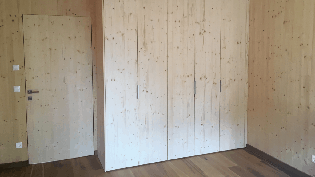 Holz Ton in Ton gibt der natürliche Werkstoff dominiert das Architektenhaus im Waldviertel